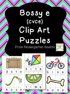 Bossy e (CVCe) Clip Art Puzzle
