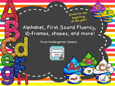 Alphabet, FIrst Sound Fluency, 10 Frames, and more for the Common Core!