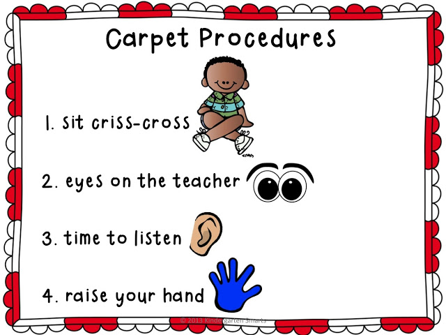 Carpet Procedures Poster and Reminder Cards