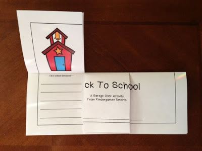 Back to School – Garage Door Writing Activity