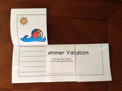 My Summer Vacation – Garage Door Writing Activity