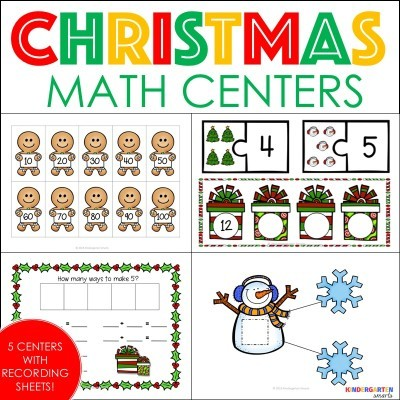 Merry Christmas Math Centers and Gingerbread FREEBIE