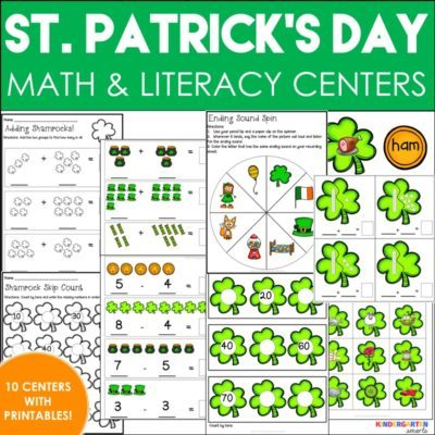 St. Patrick's Day Math and Literacy Centers with Printable Worksheets [with a FREEBIE!!]