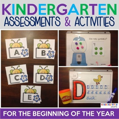 Beginning of the year Kindergarten assessments and activities WITH a FREEBIE!
