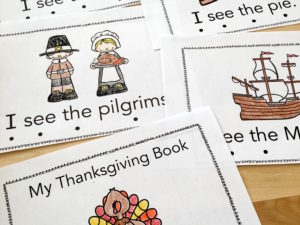 Thanksgiving Sight Word Book with a FREEBIE