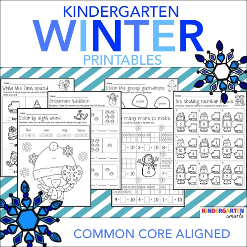 Free common core worksheets for kindergarten