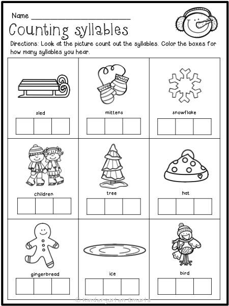 winter printables with a freebie kindergarten smarts. Black Bedroom Furniture Sets. Home Design Ideas
