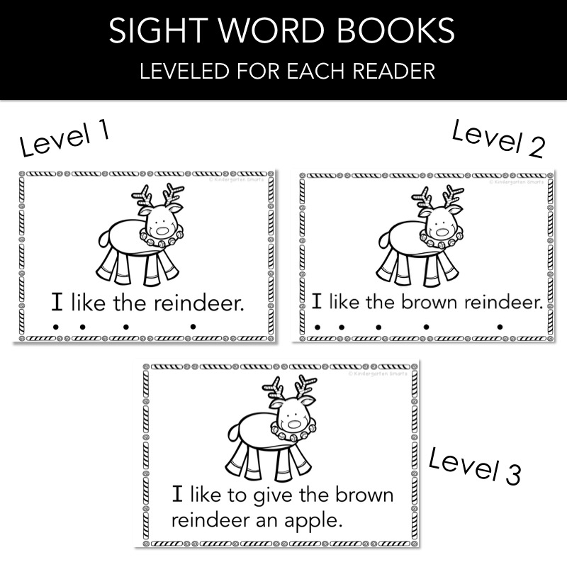 image about Sight Word Book Printable identify Xmas Sight Term Ebook with a FREEBIE - Kindergarten Smarts