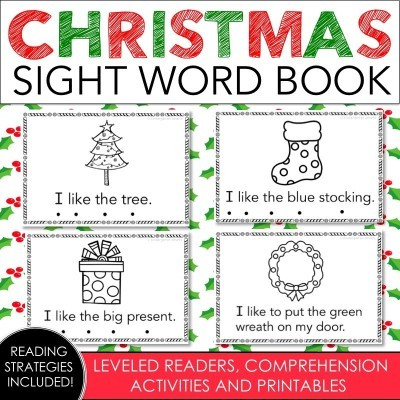 Christmas Sight Word Book with a FREEBIE