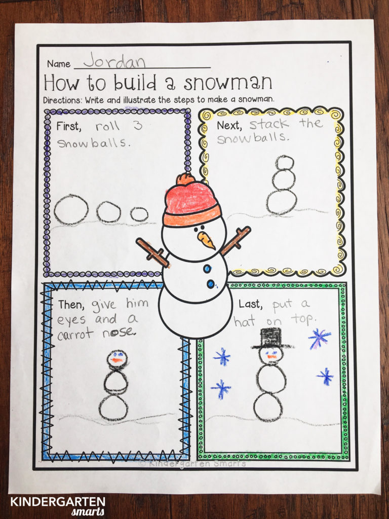 winter worksheet snowman