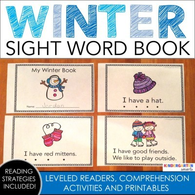 Winter Sight Word Book with a Freebie
