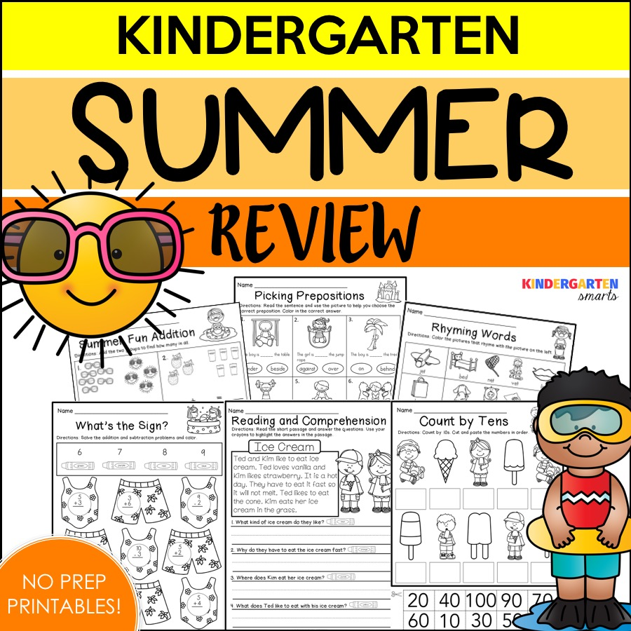 Summer Review with a freebie - Kindergarten Smarts
