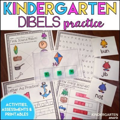 Kindergarten DIBELS Practice and a FREEBIE!