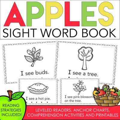 Apples Sight Word Book with a FREEBIE