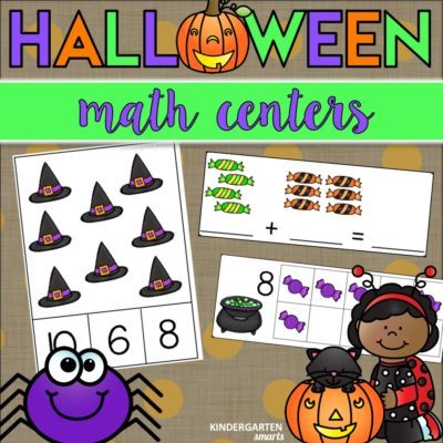 Halloween Math Centers with a Freebie
