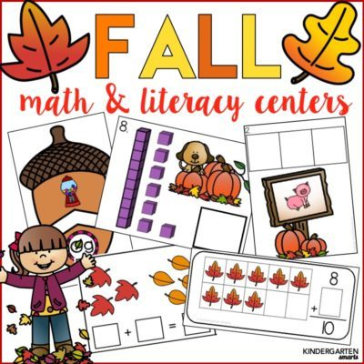 Fall Math & Literacy Centers with a FREEBIE