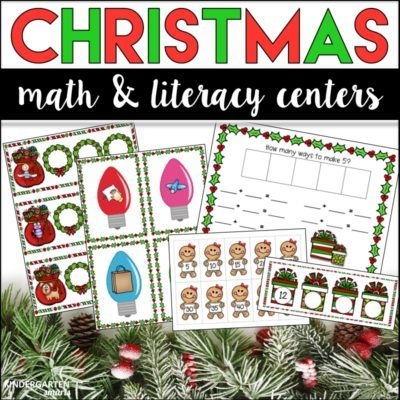 Christmas Math & Literacy Centers Bundle
