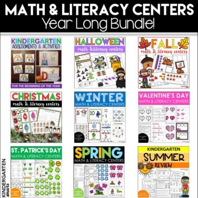 Math and Literacy Centers for the Entire Year