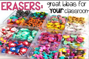 Ideas for using mini erasers in your classroom