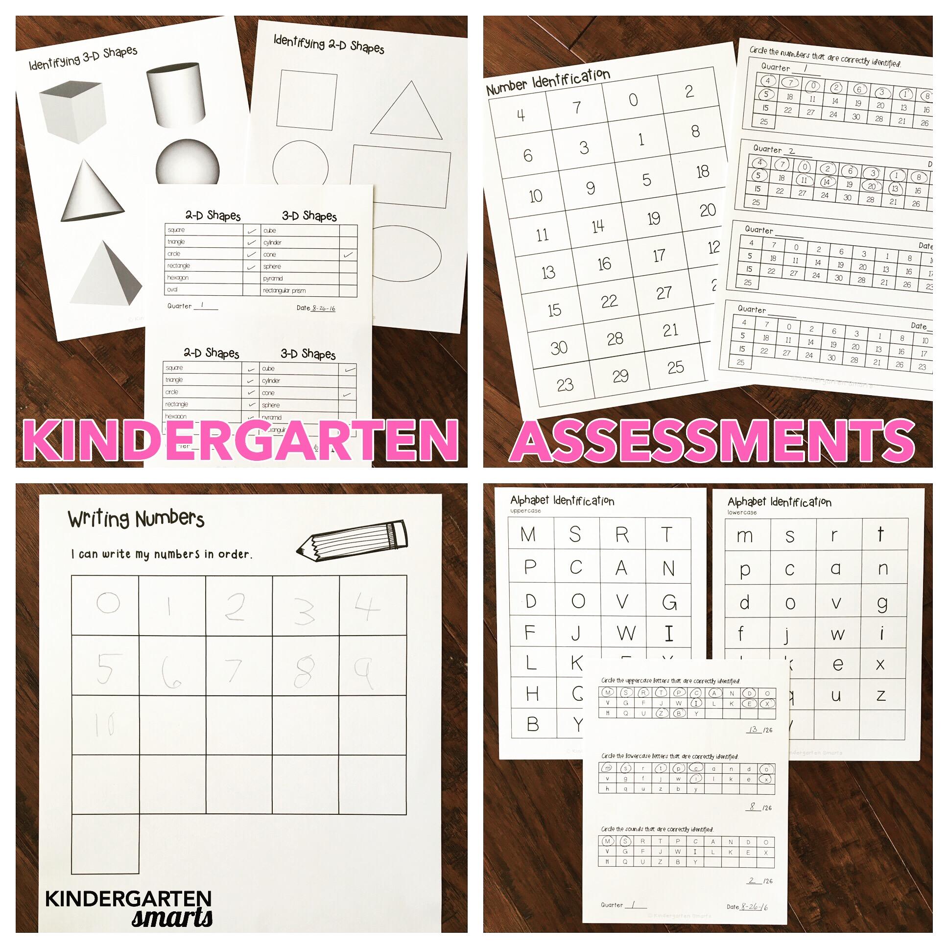 kinder assessments