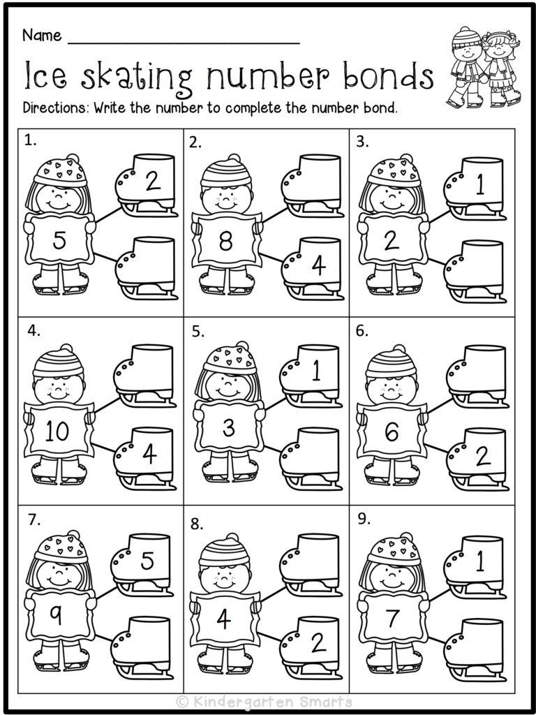 Workbooks winter worksheets kindergarten : It's the most wonderful time of the year - Kindergarten Smarts