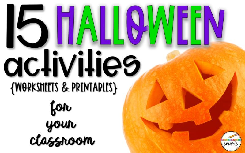 15 Halloween Activities, Worksheets, and Printables for your Classroom