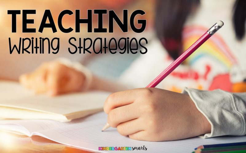 Teaching writing strategies for the middle of the school year