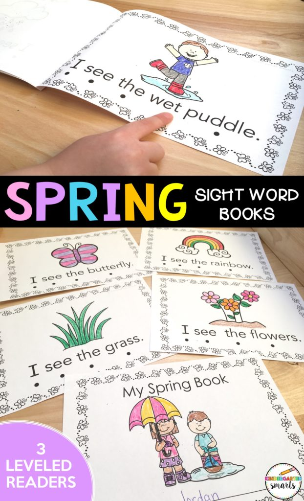 spring centers sight word books