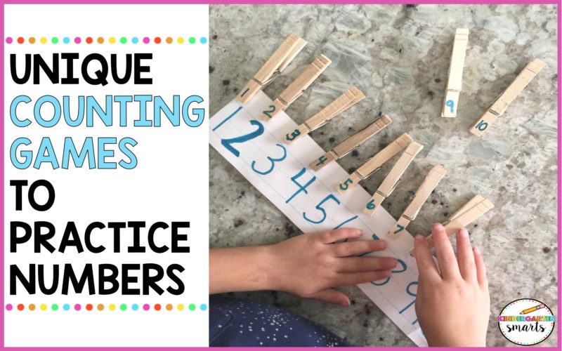 Unique Counting Games to Practice Numbers