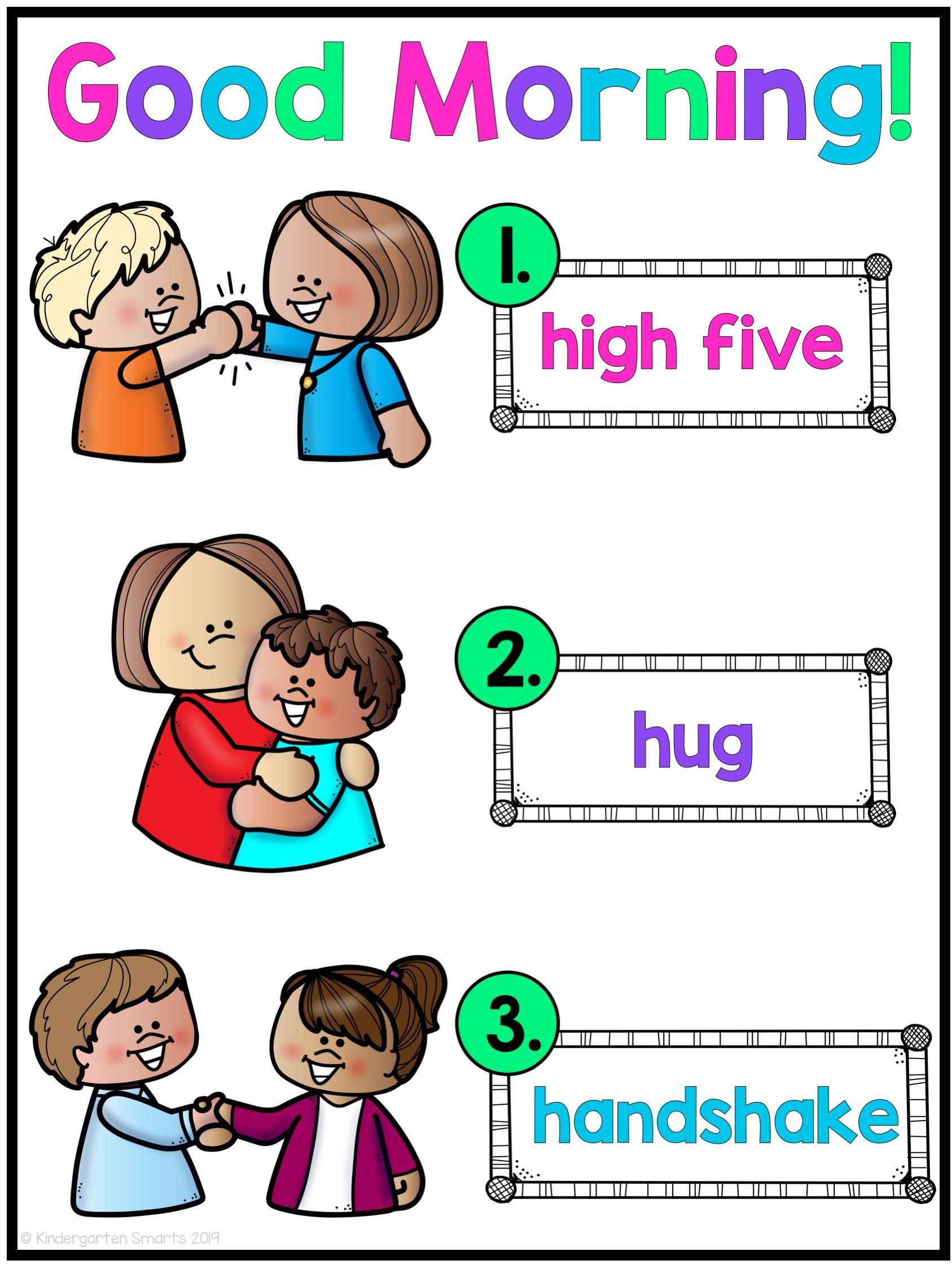 morning greeting pic - Kindergarten Smarts