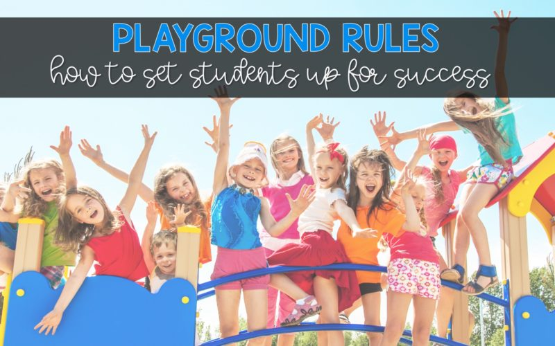 Playground Rules Flash Cards