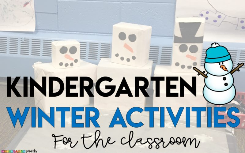 Kindergarten Winter Activities for the Classroom
